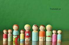 The Daily B: wooden peg people Make a My Big Family for grandkids