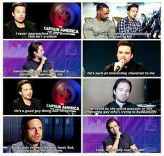 When Sebastian is protecting Bucky. :3