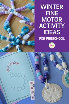 15 Winter Fine Motor Activities That Will Make Your Kids Excited - Here are 15 ideas for winter theme fine motor activities. Your kids will enjoy playing and learning - Kindergarten Lesson Plans, Kindergarten Activities, Classroom Activities, Preschool Crafts, Math Literacy, Winter Crafts For Toddlers, Winter Activities For Kids, Winter Theme For Preschool, Playdough Activities
