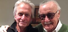 Stan Lee with Michael Douglas (Hank Pym in Ant-Man)