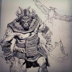 O herói de hoje é The Beastmaster, aceito sugestões de comentários para os próximos heróis (: # dota2 # ti4 #sketch #drawing