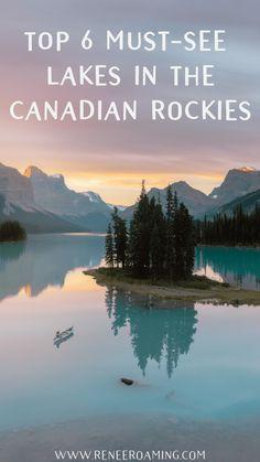 Top 6 Must-See Lakes in the Canadian Rockies - Renee Roaming - Maligne Lake Lake Louise Moraine Lake Peyto Lake Bow Lake Banff Yoho Backpacking Canada, Canada Travel, Canada Trip, Alberta Canada, Banff Canada, Banff Alberta, Banff National Park, National Parks, Ottawa