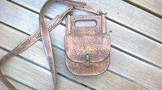 Handmade leather handbag Unisex crossbody Mens by TheSacredWays