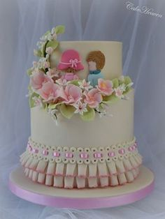 totally cute and whimsical cake that perfectly depicts LOVE
