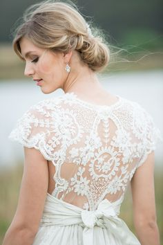 Made to measure Anna Campbell wedding dress | Agent 86 Photography | See more: http://theweddingplaybook.com/french-provincial-wedding-inspiration/