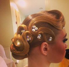 Ballroom dance hair