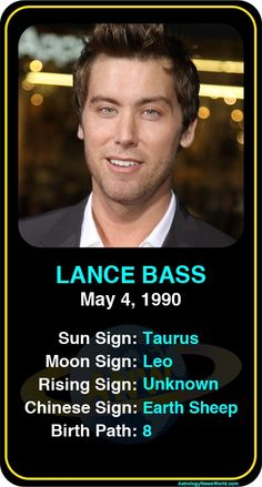 Celebrities Who've Come Out: Lance Bass  http://www.astrologynewsworld.com/index.php/galleries/celeb-gallery/item/lance-bass #astrology #lgbt #lancebass