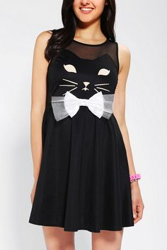 Reverse Kitty Skater Dress #urbanoutfitters