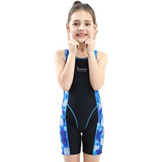 LOSHOW GirlsAthletic One Piece Swimsuits Racing Training Sports Bathing Suit