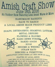 Berlin Ohio, Amish Country Ohio, Amish Crafts, Hand Sewing, Events, Handmade, Happenings, Hand Made, Handarbeit