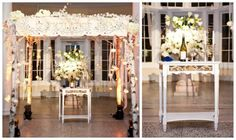 modern jewish wedding chuppah from a wedding held at the National Dance Museum featured today on  www.themodernjewishwedding.com