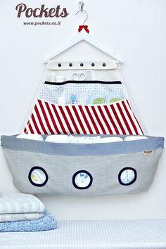 Originales ideas para guardar los pañales y las cremitas de tu bebé.