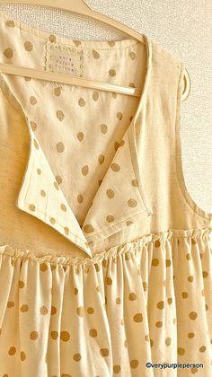 Gold Dot Gathered Dress