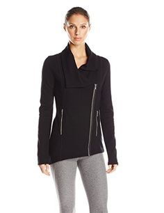 Kensie Performance Women's Ponte-Knit Asymmetrical-Zip Jacket * You can get additional details at the image link.