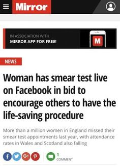 The first live streamed Cervical Screening | Hey Mummy