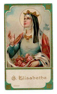 Saint Elizabeth, mother of Holy Mary Religious Pictures, Religious Icons, Religious Art, Catholic Art, Catholic Saints, Roman Catholic, Saint Elizabeth Of Hungary, Vintage Holy Cards, Religion Catolica