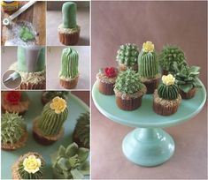 How to DIY Adorable Succulent Plant Cupcakes | iCreativeIdeas.com Like Us on Facebook == https://www.facebook.com/icreativeideas