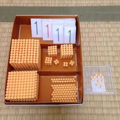 手作り*金ビーズと数字カード 完成