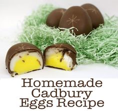 Homemade Cadbury Eggs Recipe- for Easter baskets