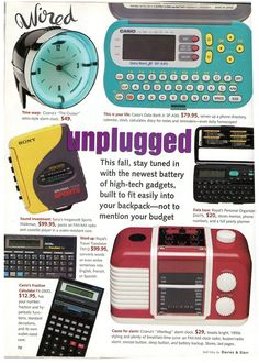 WOW! Of course I had the yellow sony walkman, but I had a couple of the other things on here as well!