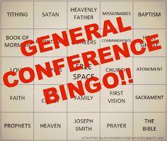 General Conference Bingo!!