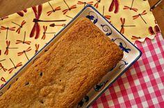 bolo de banana, aveia e cranberries