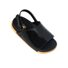e33d834074ab Fun Black jelly slider sandals