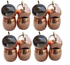 Set of 16 Moscow Mule Copper Mug 16oz Vodka ,Beer, Mule Mugs With Nickel Lining #HandMade