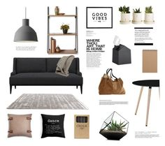 """""""Open shelving"""" by rheeee ❤ liked on Polyvore featuring interior, interiors, interior design, home, home decor, interior decorating, Crate and Barrel, Muuto, UGG Australia and Scapa Home"""