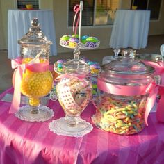 Garden Party, Baby Shower - Candy Bar - Pink