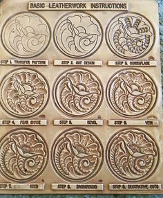 Classic Patterns Pattern fits Belts: Tooling Belt Blank and Veg-Tan Belt Kit. Leather Stamps, Leather Art, Sewing Leather, Leather Pattern, Custom Leather, Leather Tooling, Tooled Leather, Handmade Leather, Leather Jewelry