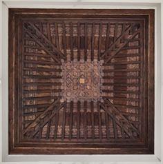 Antigua Casa Villalón, hoy Museo Carmen Thyssen en Málaga - Taujel - Historic Carpentry #artesonado #madera #mudejar #laceria #wooden #ceiling #woodenceilingdesign #woodenceiling #carpentry #carvedwood #artwork #woodwork #woodworking #tracery