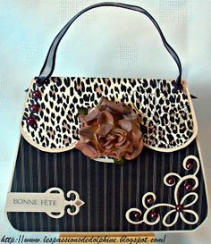 CRICUT scroll details on purse are lovely The passions of Dolphine Tutorial card purse