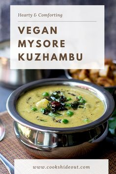 Mysore Kuzhambu is a delicious South Indian dal (lentil dish) that tastes absolutely amazing served with steamed rice and ghee. Comforting and hearty dish perfect to make for any meal. #cookshideout #vegetarian #southindian