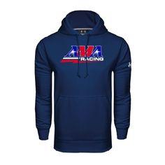 Under Armour Navy Performance Sweats Team Hood AMA Racing