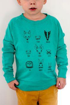 Animal faces kids sweater £22.00