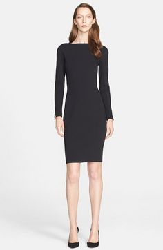 St. John Collection Long Sleeve Knit Sheath Dress available at #Nordstrom