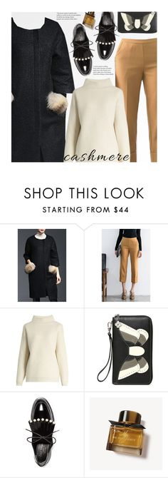 """""""Cozy Cashmere Sweaters"""" by beebeely-look ❤ liked on Polyvore featuring Diane Von Furstenberg, Robert Clergerie, Burberry, coat, streetwear, StreetSyle, cashmere and dezzal"""