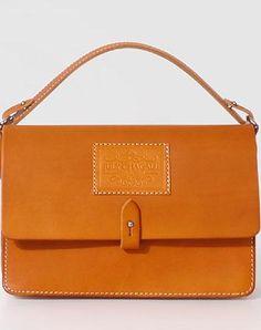 Handmade Leather handbag shoulder bag purse Tan phone crossbody bag