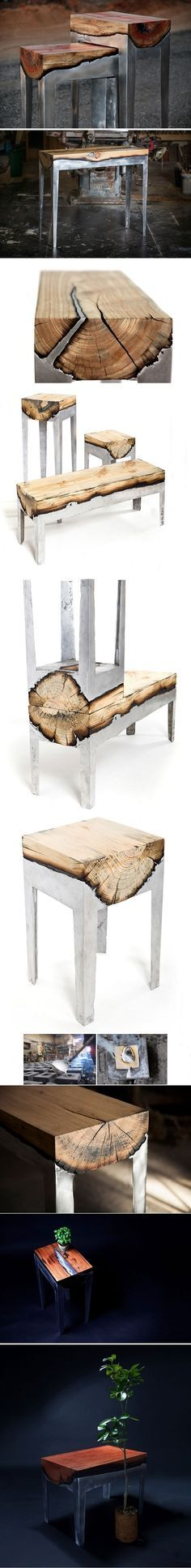 Wood And Metal Unite In Striking Furniture By Hilla Shamia | WoodworkerZ.com