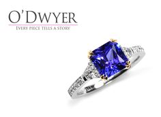 5th Avenue Ring - 18ct white gold ring with an amazing radient cut Tanzanite nin the centre surrounded with diamonds. Vigselring Förlovningsring