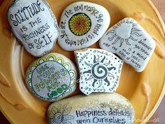 https://flic.kr/p/e5Y4wV | Artrocks Inspired Stones | handpicked stones from Lake Winnipeg hand-drawn and painted by Karen Fuhr. artrocks.ca
