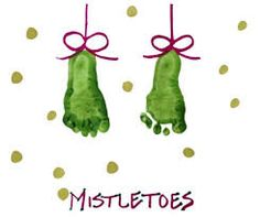 Footprint Mistletoe Preschool Art Project A new idea for Christmas cards. Preschool Christmas, Christmas Activities, Christmas Projects, Christmas Holidays, Preschool Art Projects, Craft Activities, Preschool Crafts, Preschool Ideas, Classroom Activities