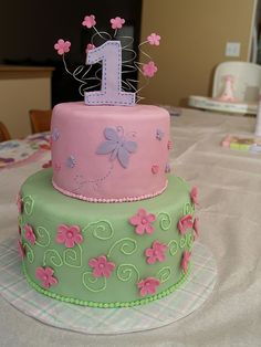 baby girl birthday cakes - Google Search