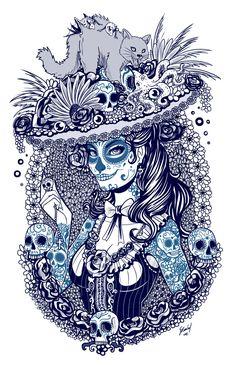 Catrina+sketch+by+EdgarSandoval.deviantart.com+on+@DeviantArt