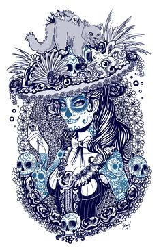 Catrina+sketch+by+EdgarSandoval.deviantart.com+on+@DeviantArt
