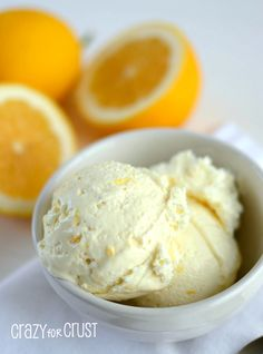 Easy Lemon Ice Cream {Skinny}