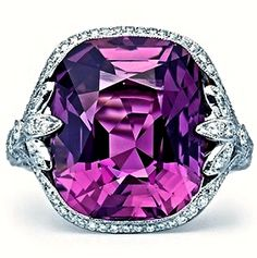 Cushion-Cut Purple Sapphire Ring www.saturnostore.com