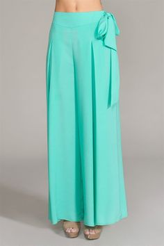 Bow Palazzo Pants- love the bow style