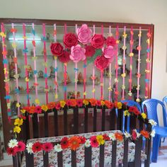 Naming Ceremony Decoration Decorations Cradle Backdrop